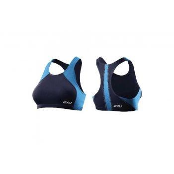 2xU - Womens Comp Tri Top, kurzes Frauen Oberteil, Blau, L preview image