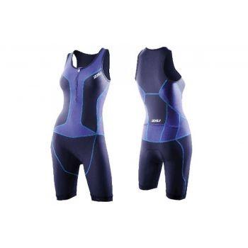 2xU - Womens Long Distance Trisuit, Einteiler, Blau, L preview image