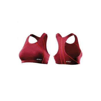 2xU - Womens Comp Tri Top, Frauen Oberteil, kurzes Top, rot, Gr. L preview image