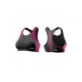 2xU - Womens Comp Tri Top, Damen Top, grau-violett, Gr. L preview image