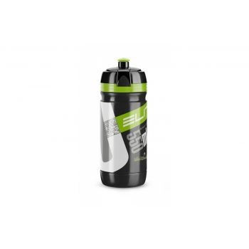 Elite - Trinkflasche Elite Corsa 550ml, schwarz, Logo grün preview image