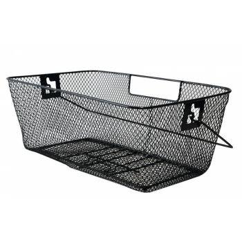 Hinterradkorb für Schultasche 46x27x18cm, schwarz, engmaschig preview image