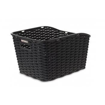 Hinterradkorb Basil Weave WP 35x26x24cm, schwarz, kunststoffgeflecht preview image