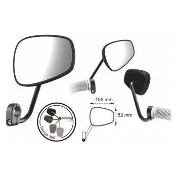 Fahrradspiegel T-one watchout II oval mit Lenkerklemmung, m. E-Bike Zulassung preview image