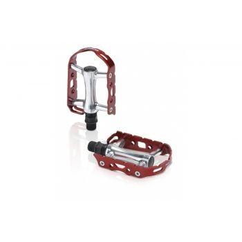 XLC - XLC MTB-Pedal Ultralight V PD-M15 Alu, silber/rot, ohne Reflektor preview image