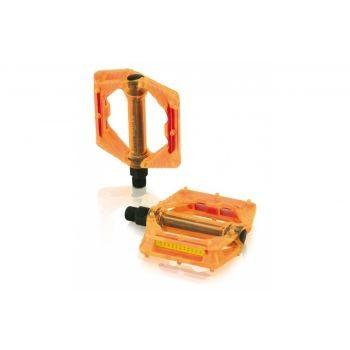 XLC - XLC Plattform-Pedal PD-M16 orange transparent preview image