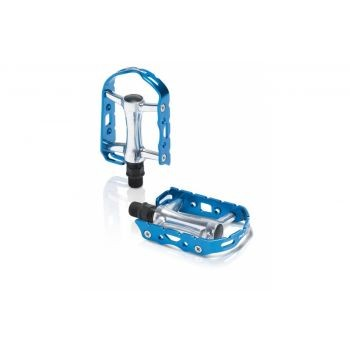 XLC - XLC MTB-Pedal Ultralight V PD-M15 Alu, silber/blau, ohne Reflektor preview image