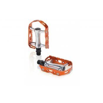 XLC - XLC MTB-Pedal Ultralight V PD-M15 Alu, silber/orange, ohne Reflektor preview image