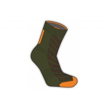 SealSkin - Socken SealSkinz MTB Ankle mit Hydrostop Gr. XL (47-49) olive/orange wasserdicht preview image