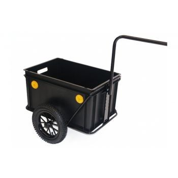 Roland - Anhänger Roland Mini-Boy 12ZollHochdeichsel Kunststoff, mit Kupplung ohne Deckel preview image