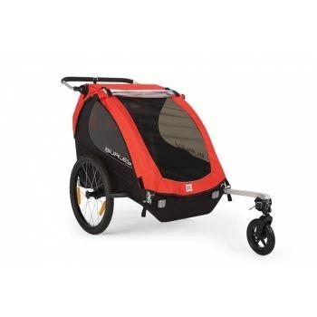 Burley - Fahrrad-Kinder-Anhänger Burley Honey Bee Modell 2016 rot mit Stroller preview image