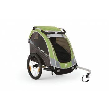 Burley - Fahrrad-Kinder-Anhänger Burley Solo Modell 2016 grün preview image