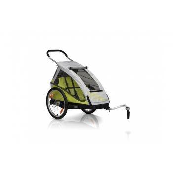 XLC - Fahrrad-Kinder-Anhänger XLC Mod. 2016 20Zoll Mono² limone inkl. Buggyrad preview image
