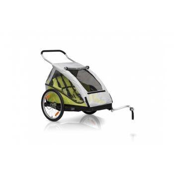 XLC - Fahrrad-Kinder-Anhänger XLC Mod. 2016 20Zoll Duo² limone Zweisitzer inkl Buggyrad preview image