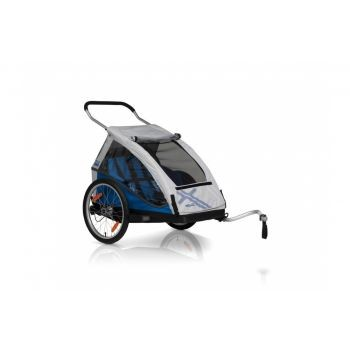 XLC - Fahrrad-Kinder-Anhänger XLC Mod. 2016 20Zoll Duo² blau Zweisitzer inkl. Buggyrad preview image
