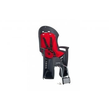 Hamax - Kindersitz Hamax Smiley grau/rot Befestigung Rahmenrohr abschließbar preview image