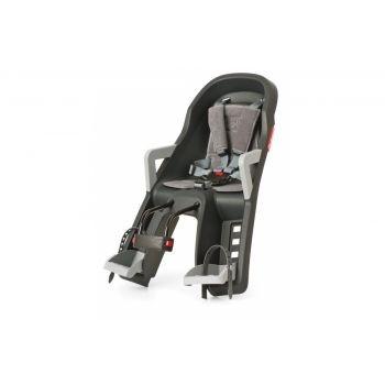 POLISPORT - Kindersitz vorne Polisport Guppy Mini dunkelgrau/silber, Befestig. Steuerrohr preview image