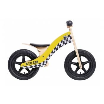 Rebel Kidz - Lernlaufrad Rebel Kidz Wood Air Holz, 12Zoll, Taxi gelb preview image