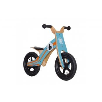 Rebel Kidz - Lernlaufrad Rebel Kidz Wood Air Holz, 12Zoll, Le Mans blau/orange preview image