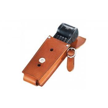 Faltschloss Trelock Manufaktur m. Halter FS 300/85, schwarz, mit Leder preview image