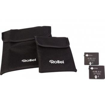 Rollei - Ersatz-Akku-Set a 2 St.für Rollei Bullet 3S/4S/5S/5S-WiFi schwarz mit Taschen preview image