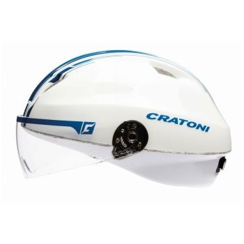 Fahrradhelm Cratoni Evolution light Gr. M/L (57-61cm) weiß/blau glanz preview image