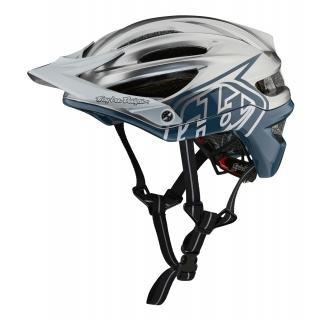 Troy Lee Designs A2 Helmet (MIPS) Decoy Air Force Blue/Silver M/L preview image