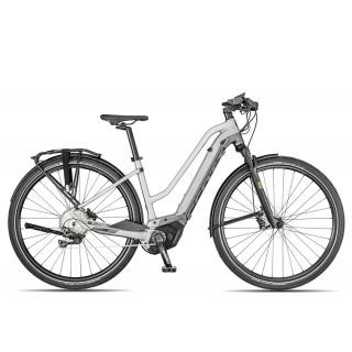 Scott Silence eRide 10 Trapez 2019 | 45 cm | silver/black/turquoise preview image