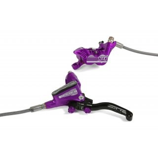 Hope Tech 3 V4 Front - No Rotor - Purple - BRAIDED-L/H preview image