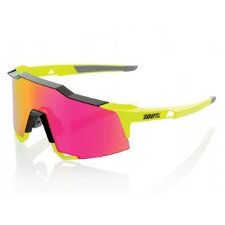 100% Speedcraft Tall Mirror Lens Polished Black / Fluo Yellow preview image