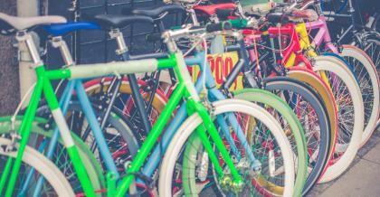 Critical Mass viele Fahrräder