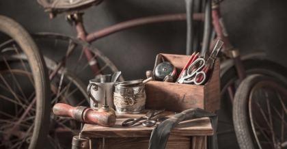 Fahrradpflege mit Tools
