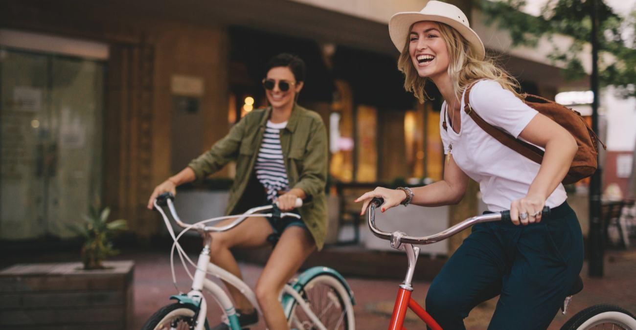 Spaß auf dem Rad– auch unter Mutter Naturs Dusche