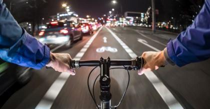 Fahrrad mit Beleuchtung
