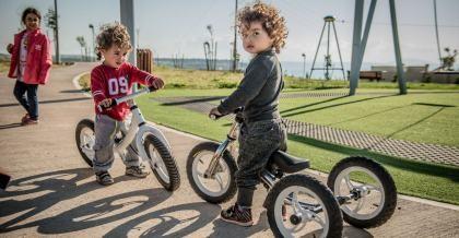 Das Monkeycycle Kinderfahrrad im Einsatz